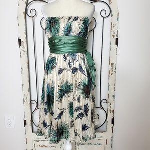 BCBGMaxAzria strapless silk dress size 12